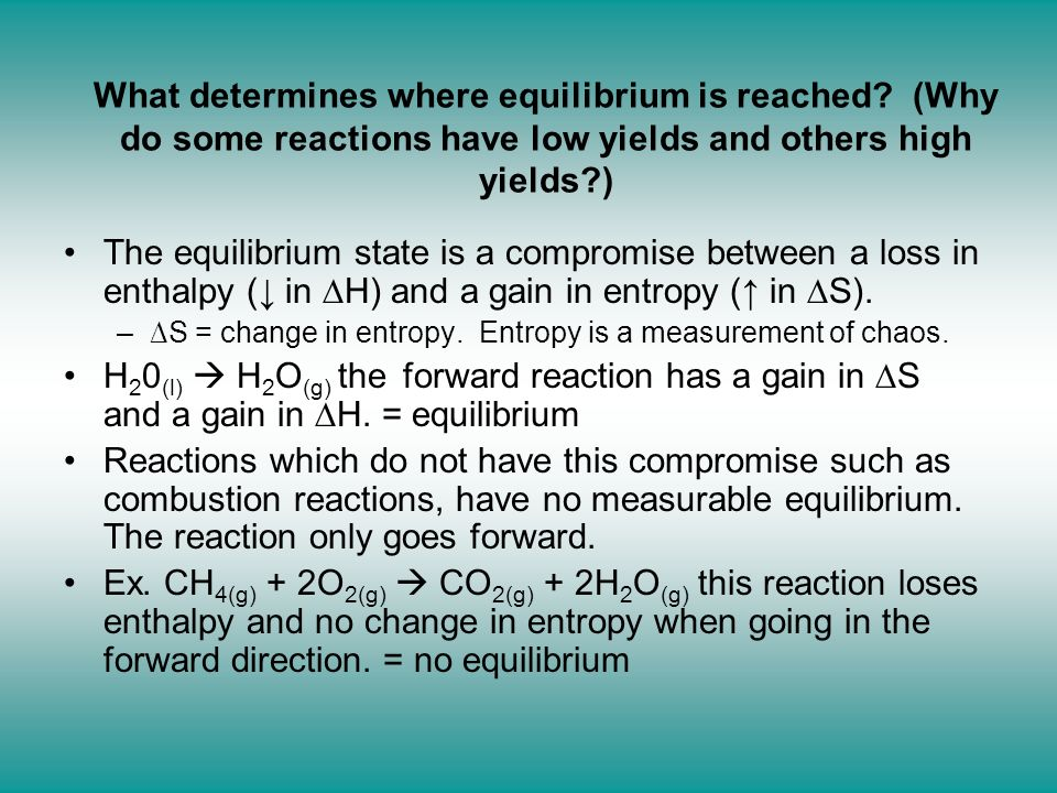 What determines where equilibrium is reached