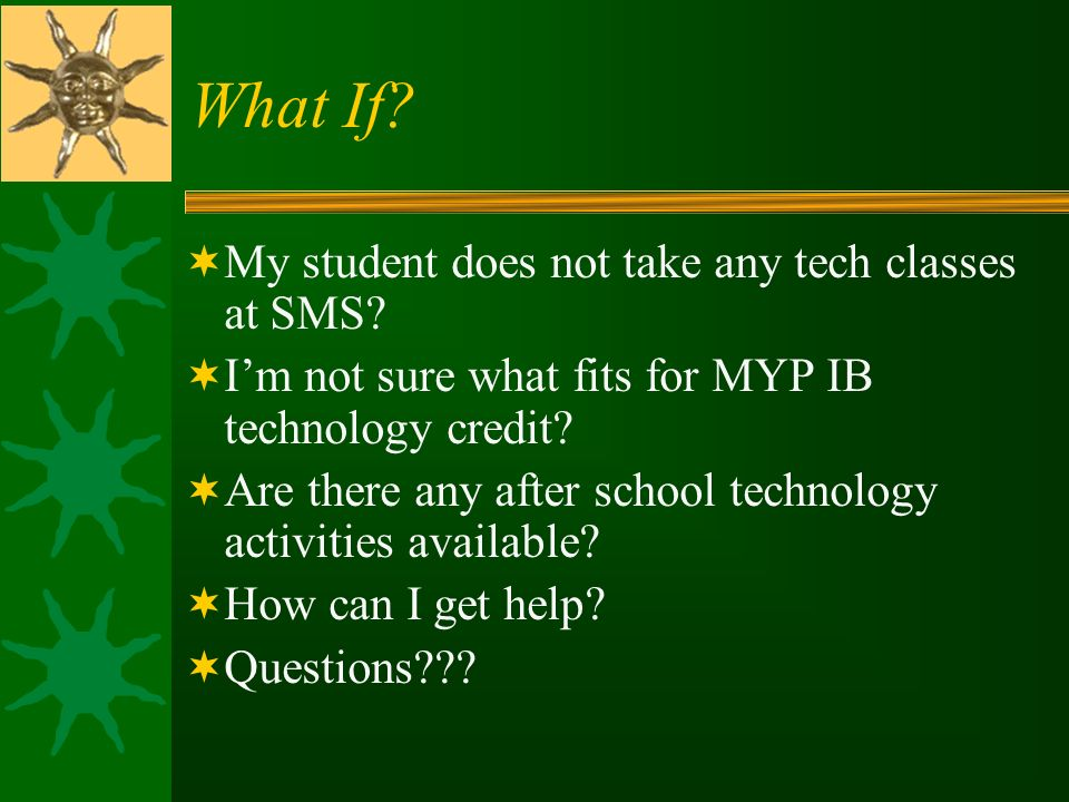 What If My student does not take any tech classes at SMS