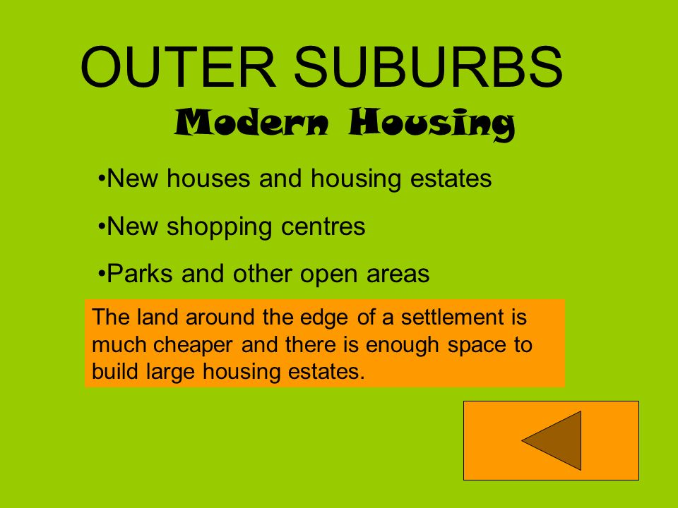 OUTER SUBURBS Modern Housing New houses and housing estates