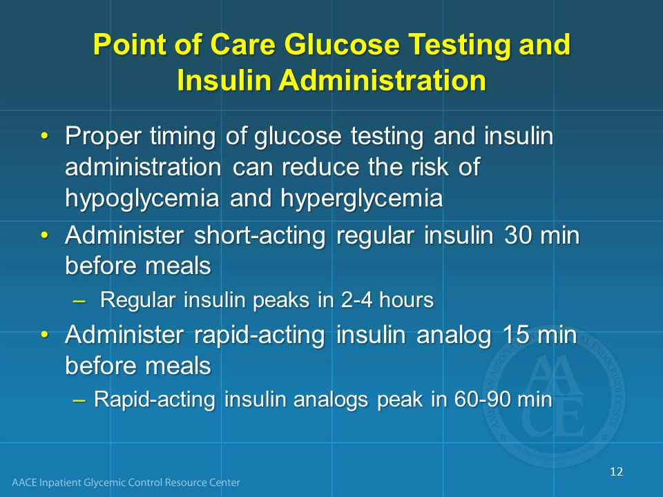 Point of Care Glucose Testing and Insulin Administration