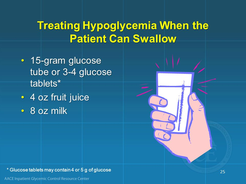 Treating Hypoglycemia When the Patient Can Swallow