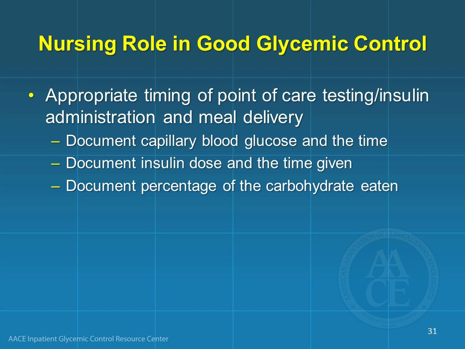 Nursing Role in Good Glycemic Control