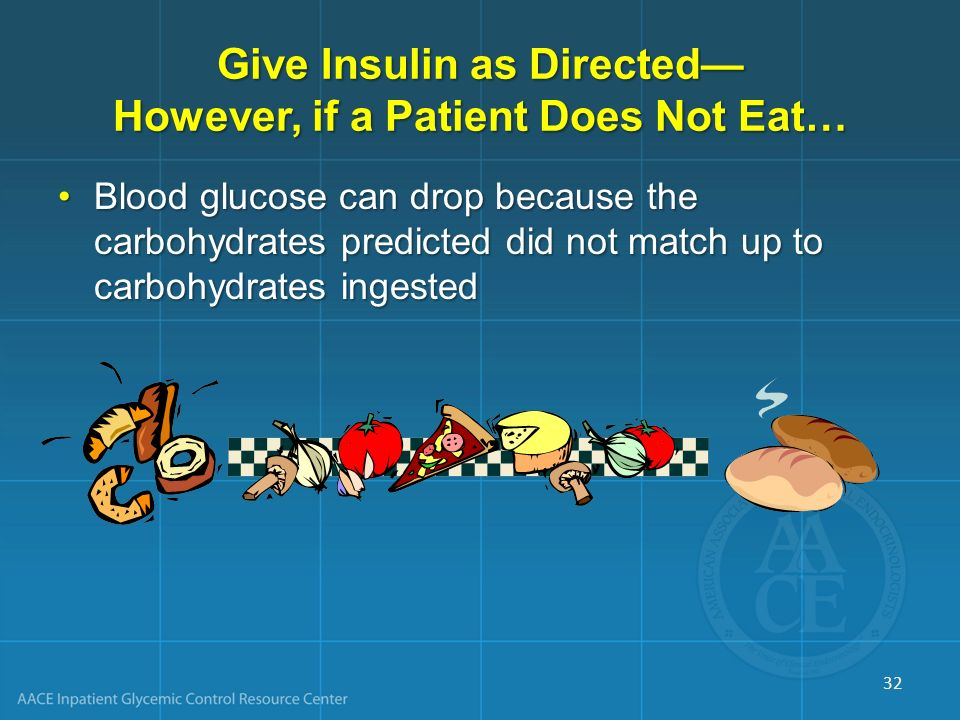 Give Insulin as Directed— However, if a Patient Does Not Eat…