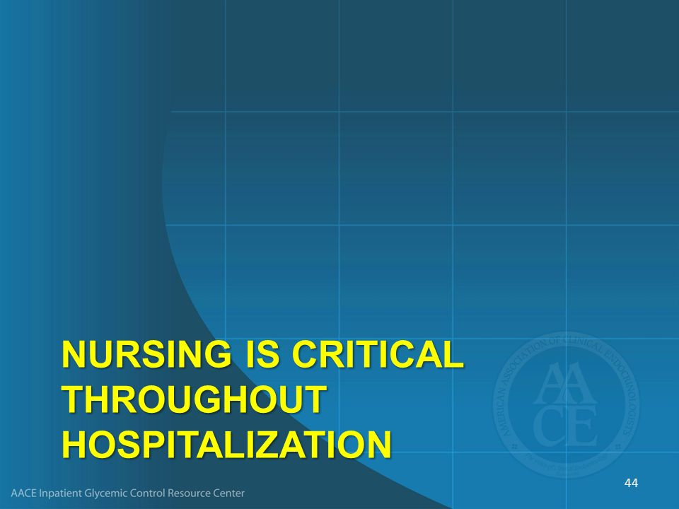 Nursing Is Critical throughout Hospitalization
