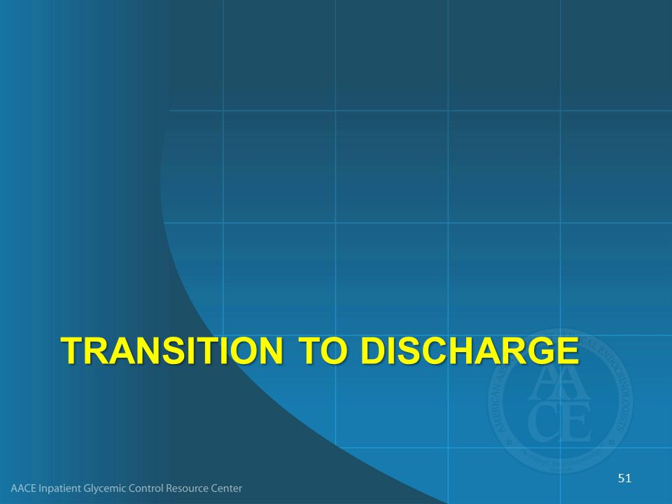 Transition to Discharge