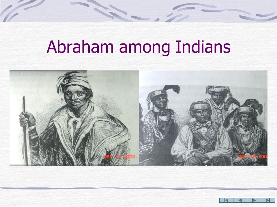 Abraham among Indians
