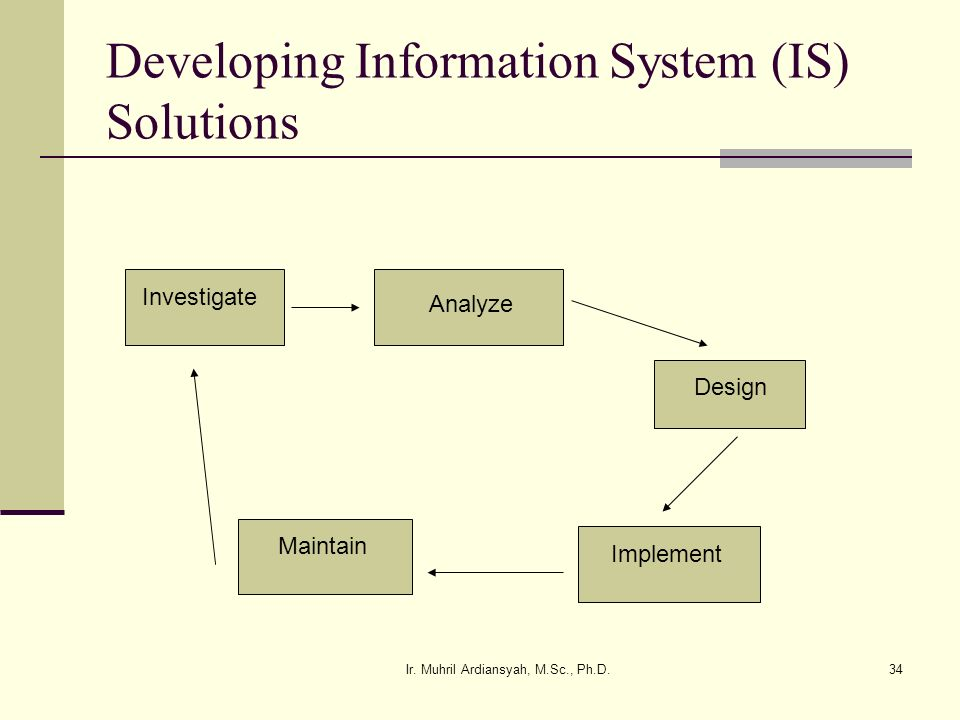 Developing Information System (IS) Solutions
