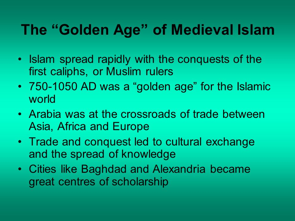 The Golden Age of Medieval Islam
