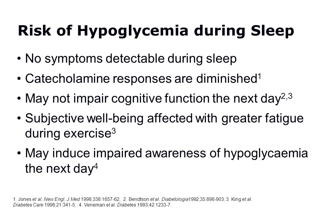 Risk of Hypoglycemia during Sleep