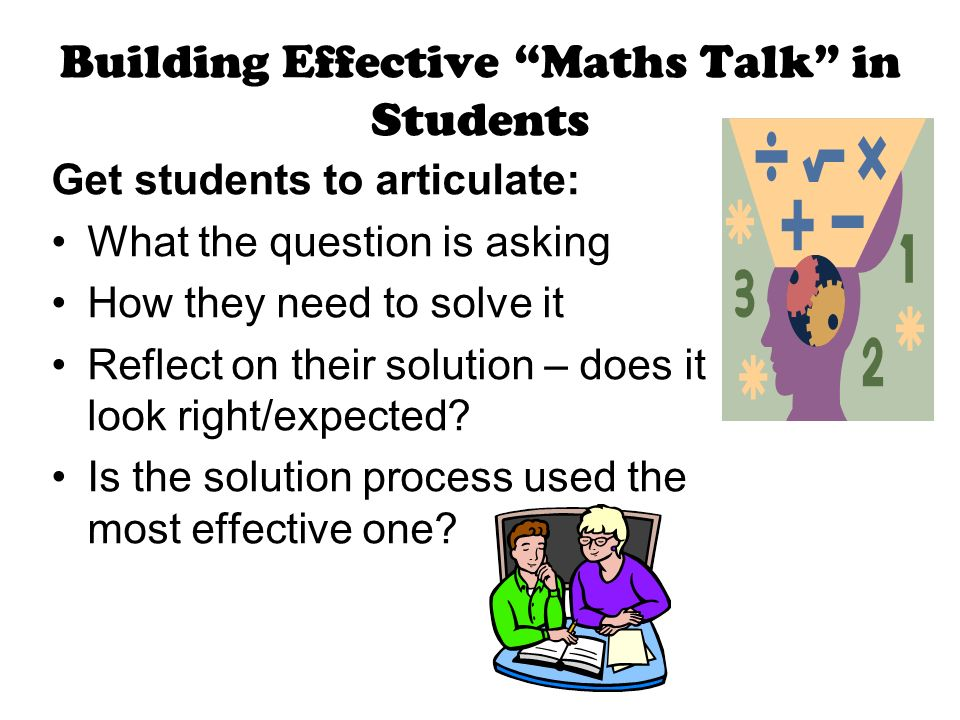 Building Effective Maths Talk in Students
