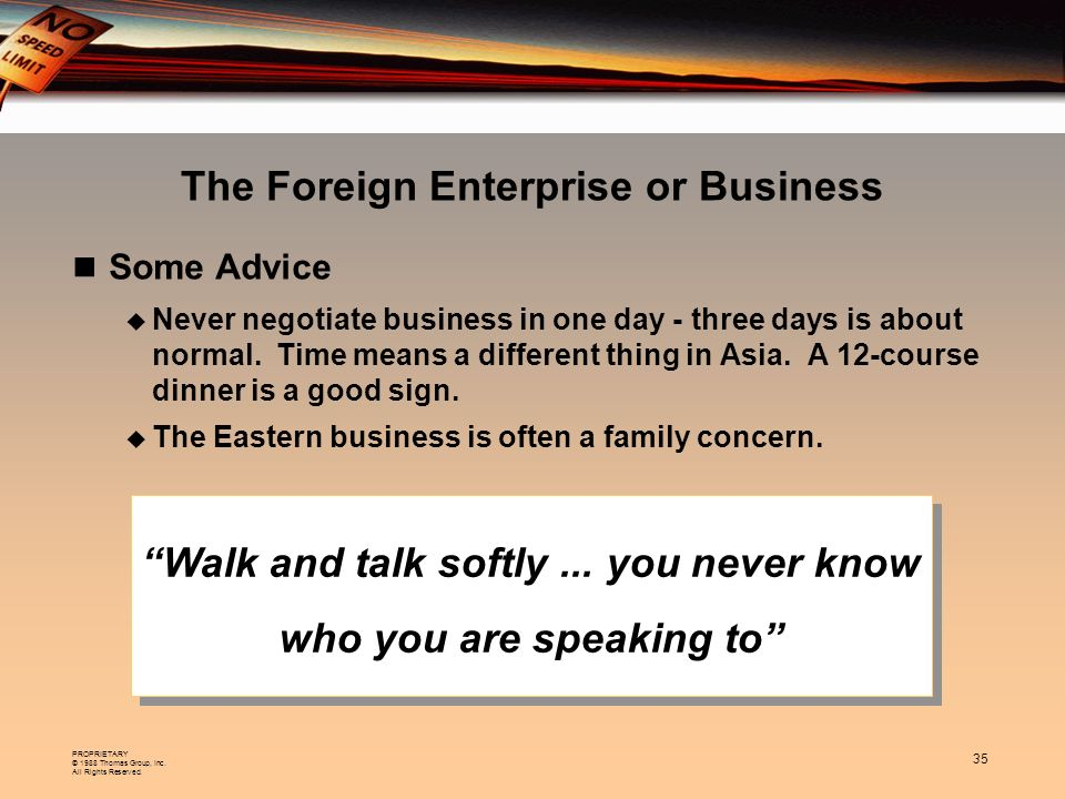 The Foreign Enterprise or Business