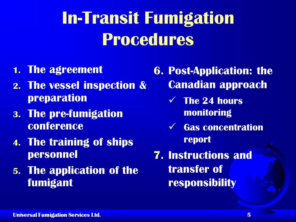In-Transit Fumigation Procedures