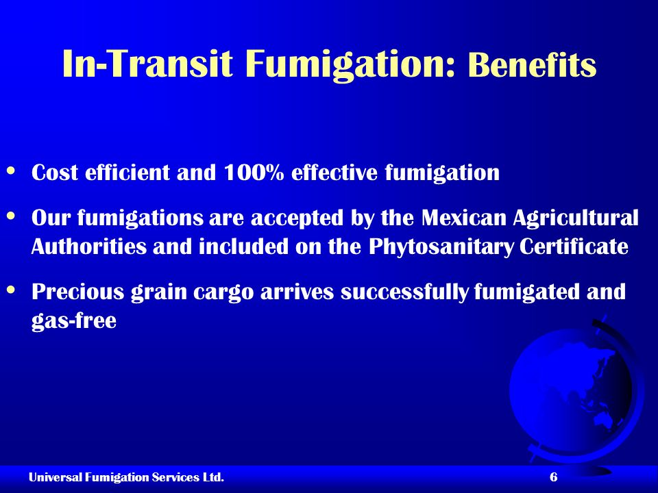 In-Transit Fumigation: Benefits
