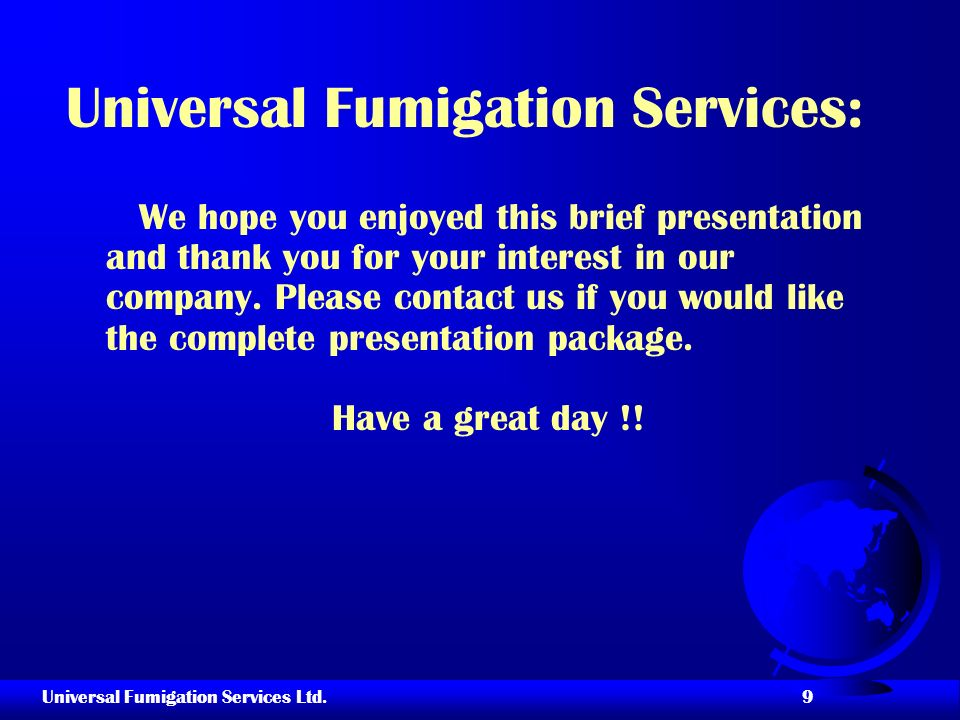 Universal Fumigation Services:
