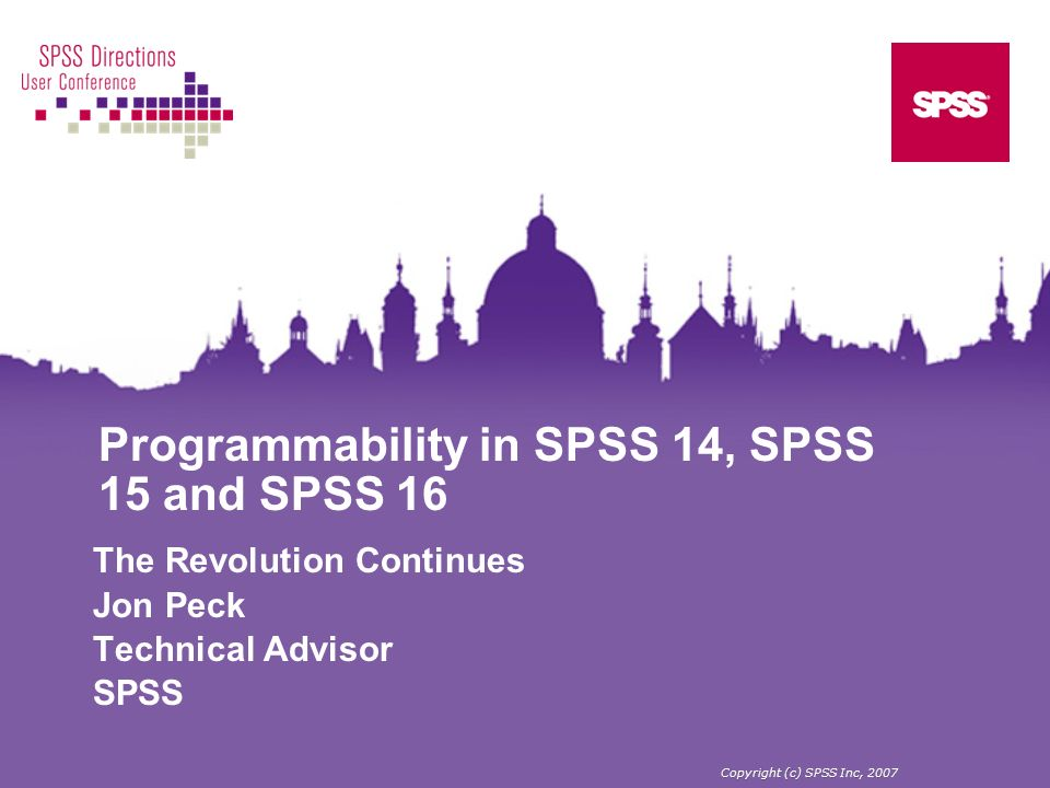 Programmability in SPSS 14, SPSS 15 and SPSS 16