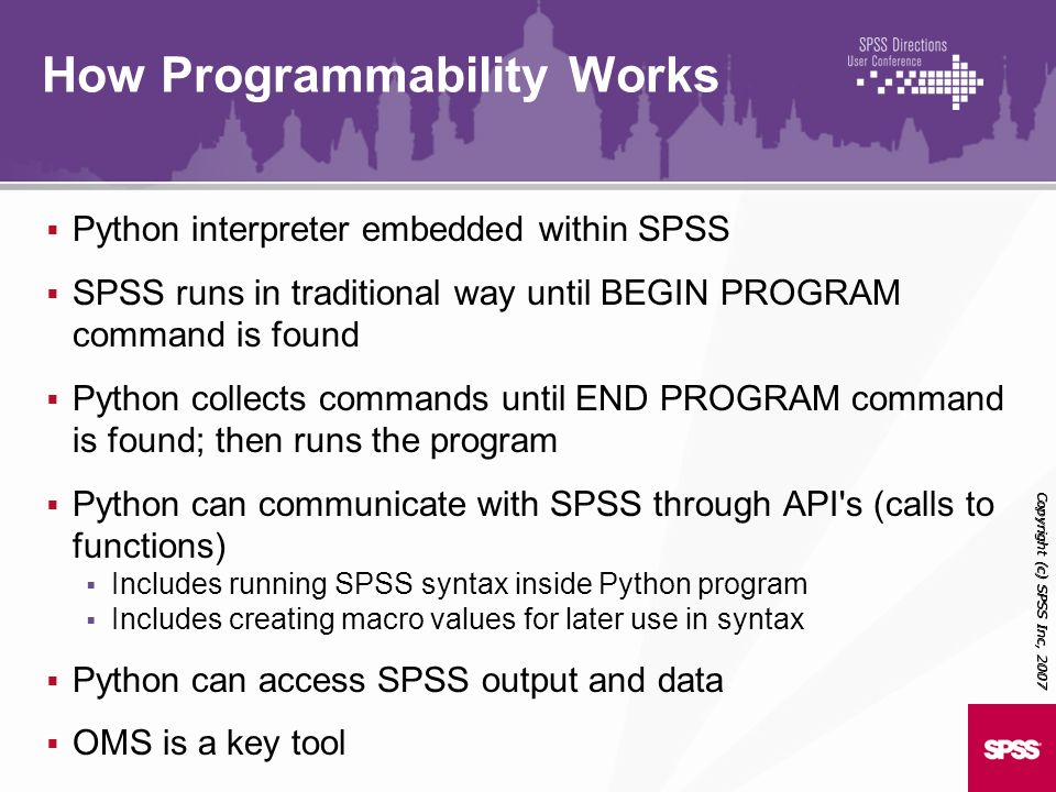 Programmability in SPSS 14, SPSS 15 and SPSS ppt download