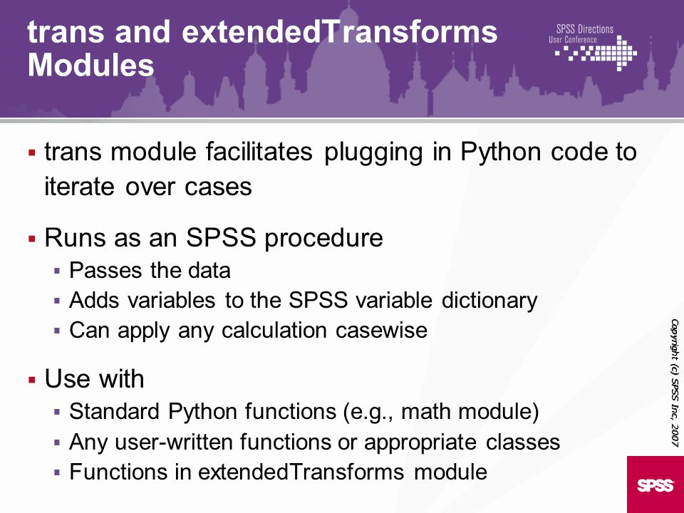 trans and extendedTransforms Modules