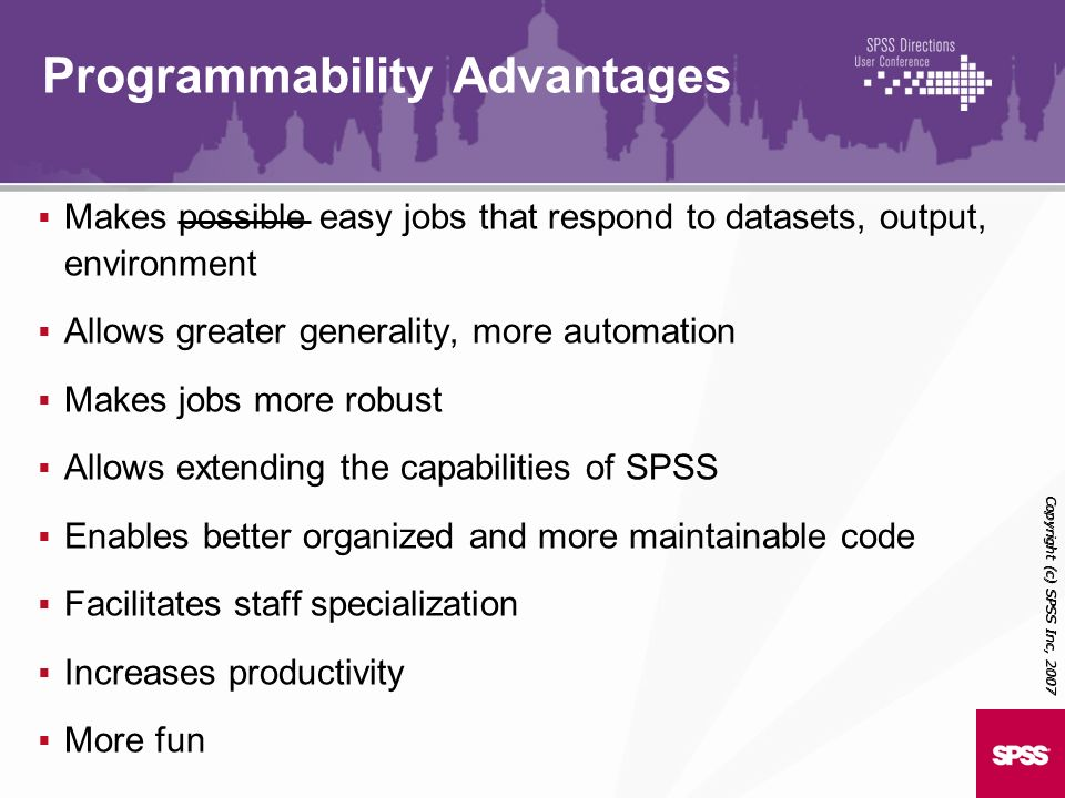 Programmability Advantages