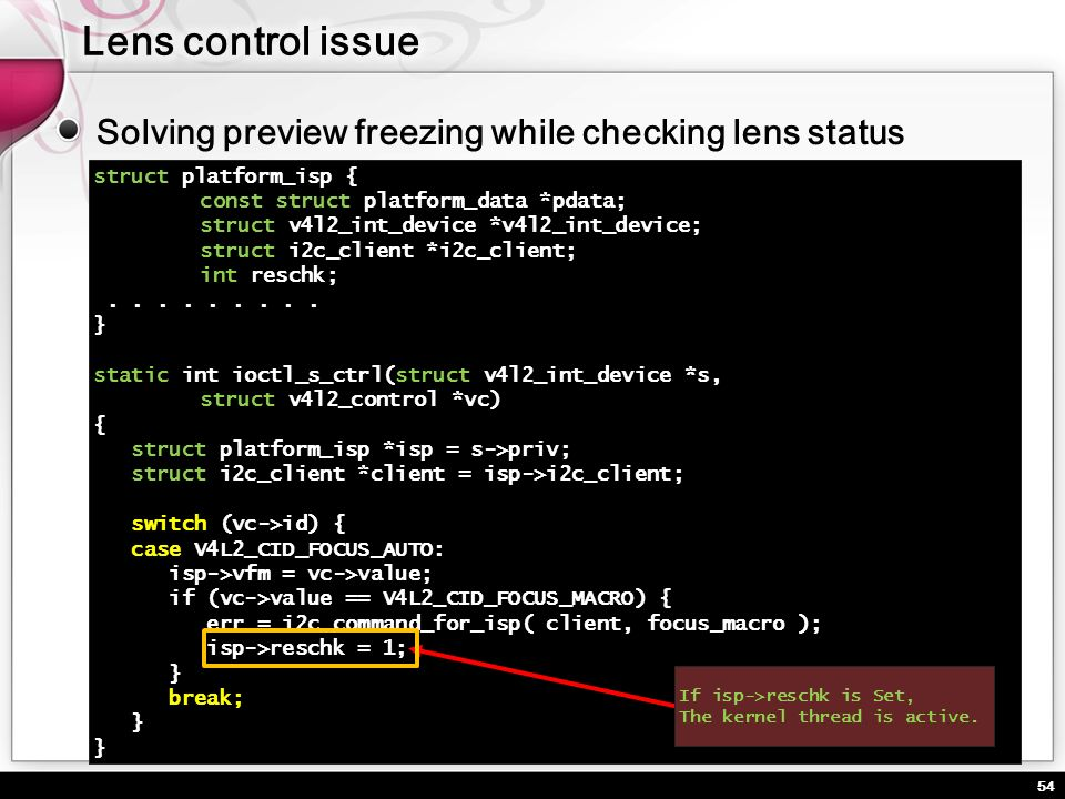 Lens control issue Solving preview freezing while checking lens status