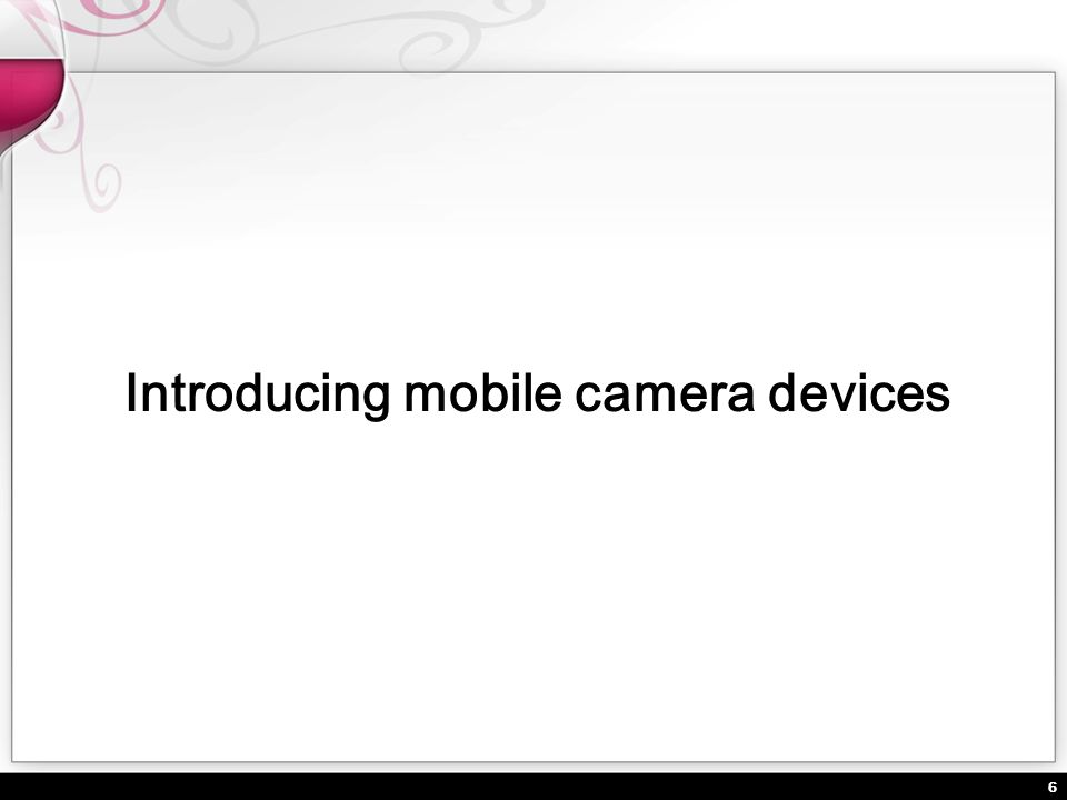 Introducing mobile camera devices