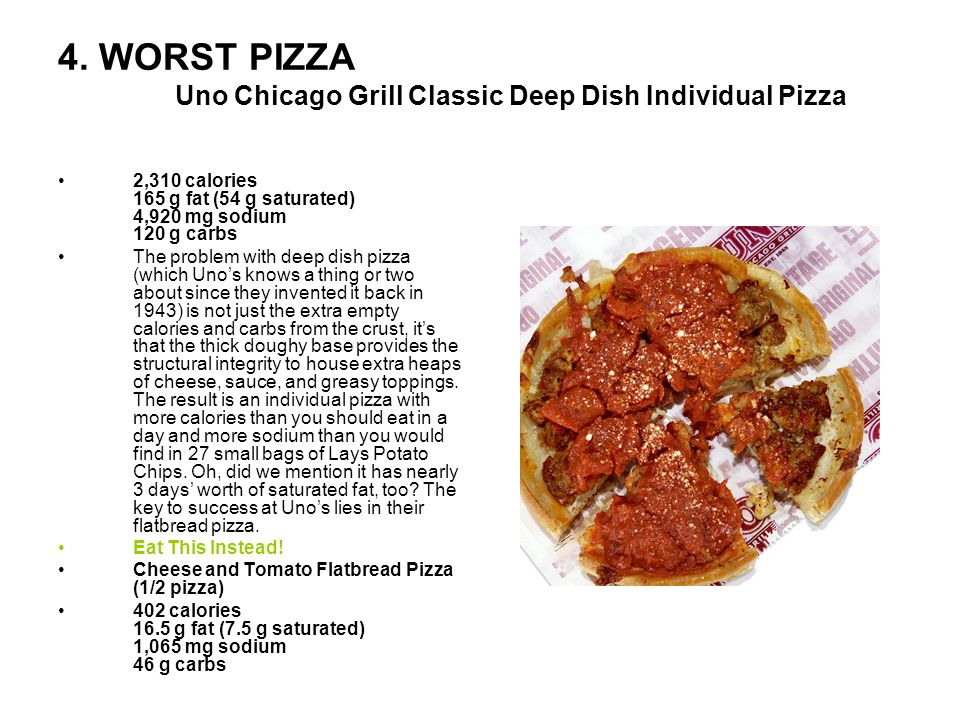 4. WORST PIZZA Uno Chicago Grill Classic Deep Dish Individual Pizza