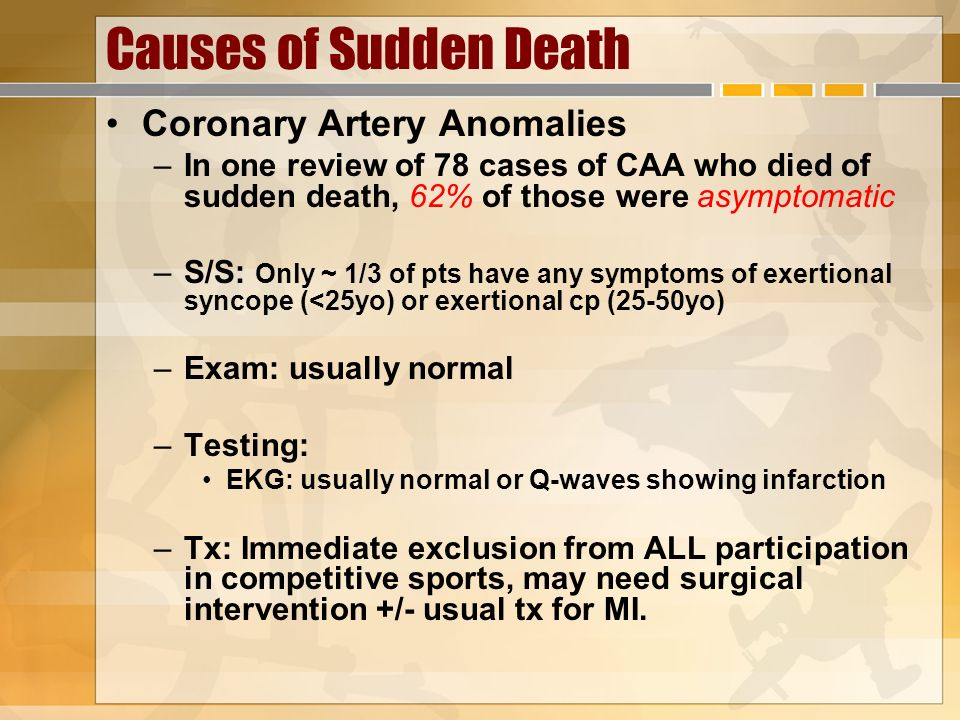 Causes of Sudden Death Coronary Artery Anomalies