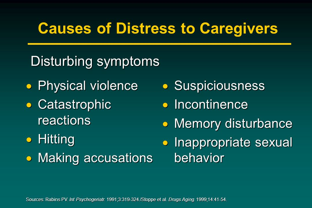 Causes of Distress to Caregivers