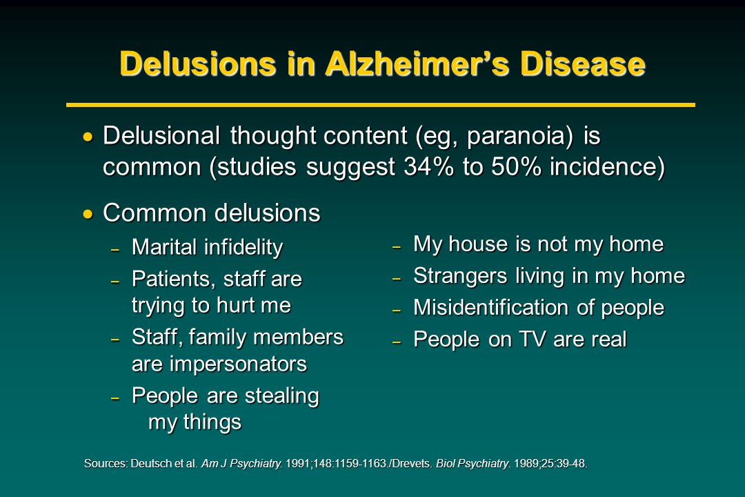 Delusions in Alzheimer's Disease