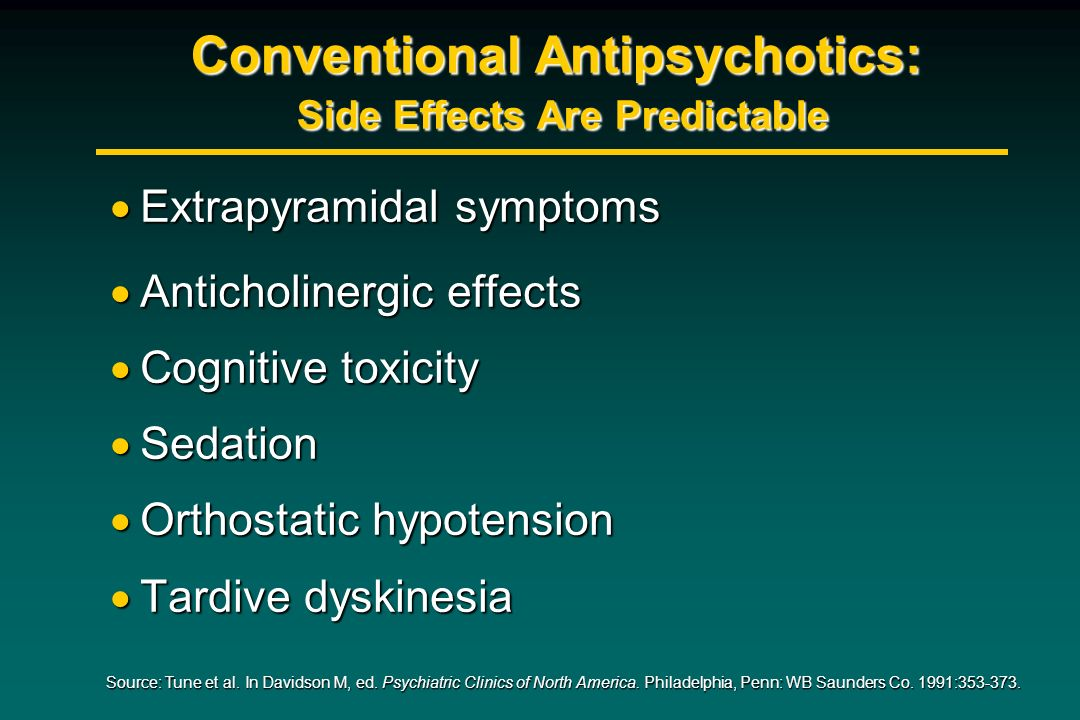 Conventional Antipsychotics: Side Effects Are Predictable