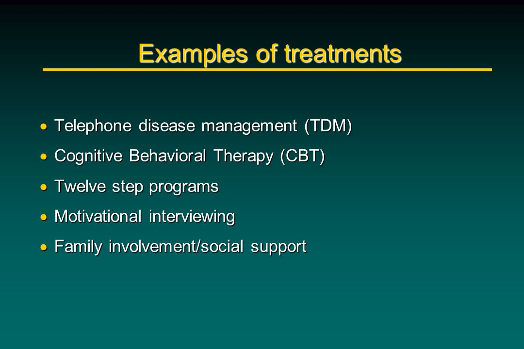 Examples of treatments