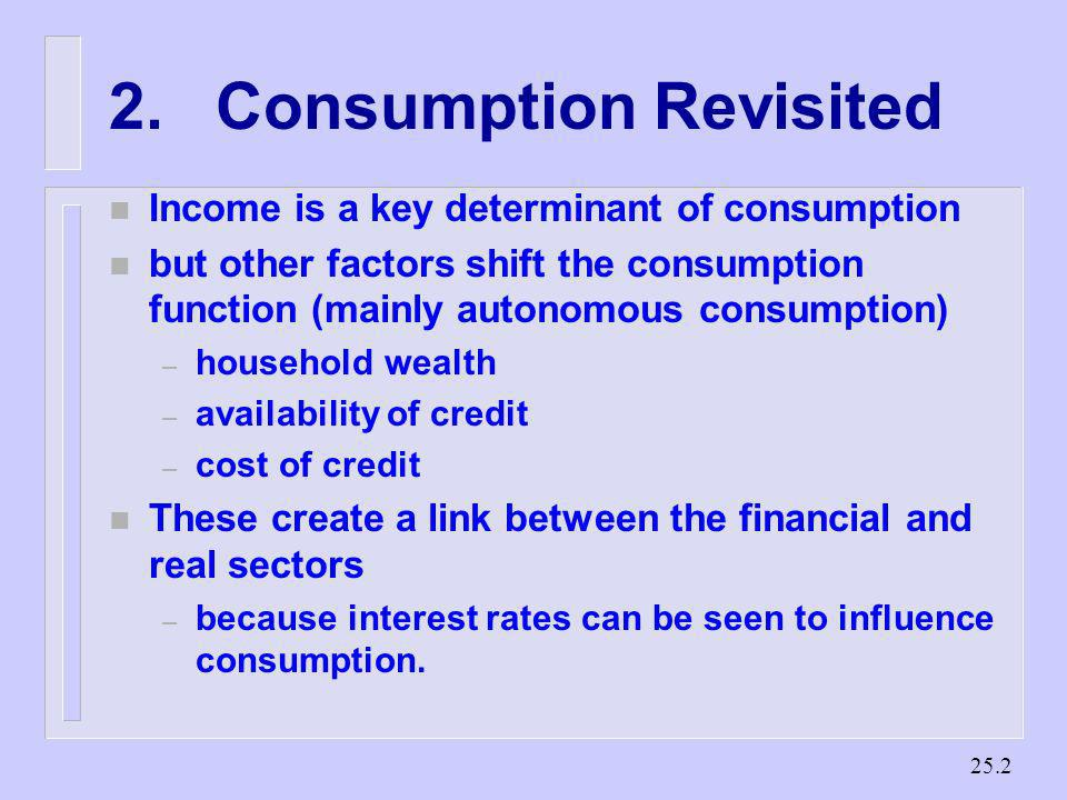 2. Consumption Revisited
