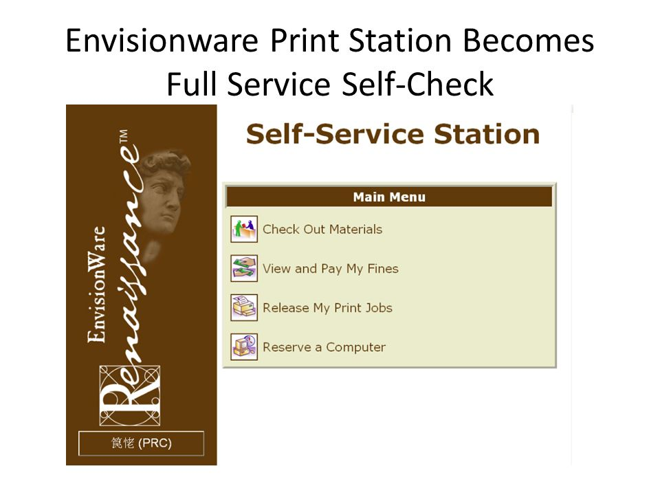 Envisionware Print Station Becomes Full Service Self-Check