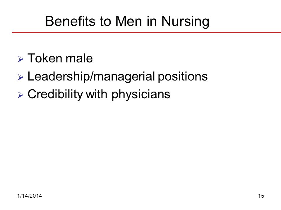 Benefits to Men in Nursing