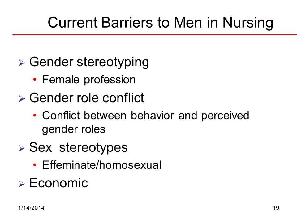 Current Barriers to Men in Nursing
