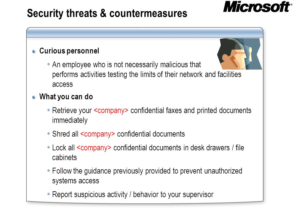 Security threats & countermeasures