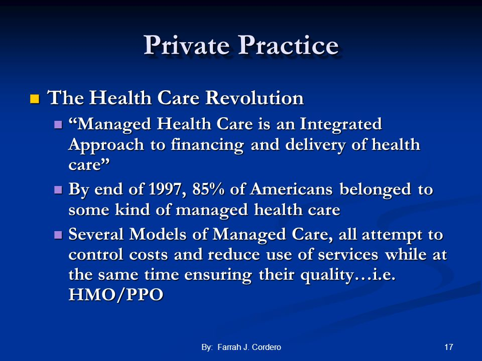 Private Practice The Health Care Revolution