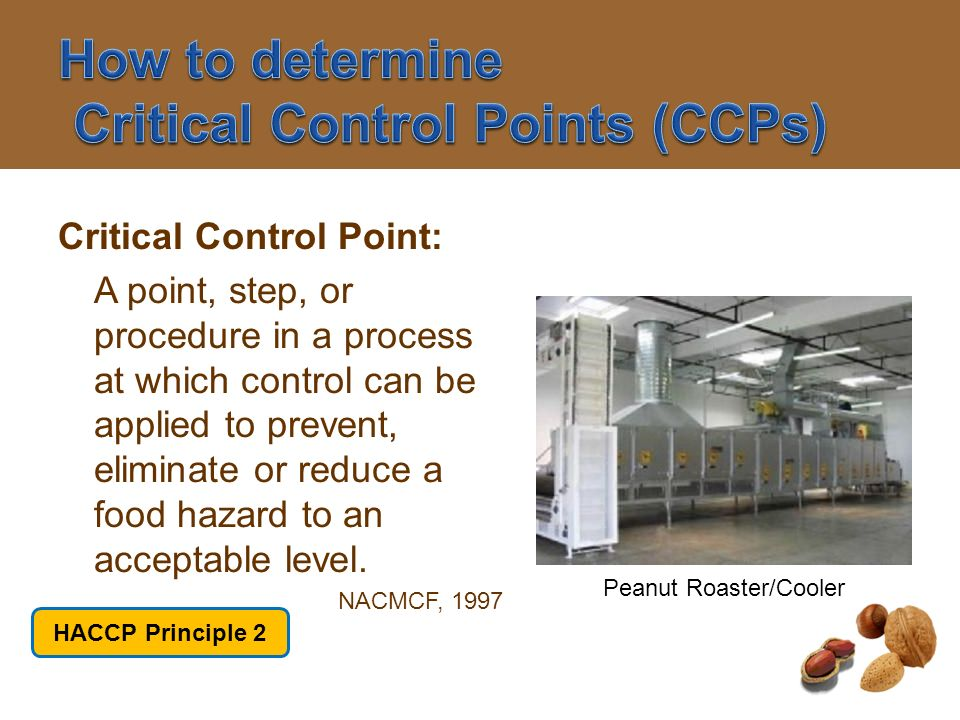 How to determine Critical Control Points (CCPs)