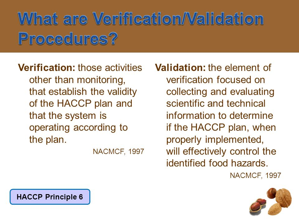What are Verification/Validation Procedures