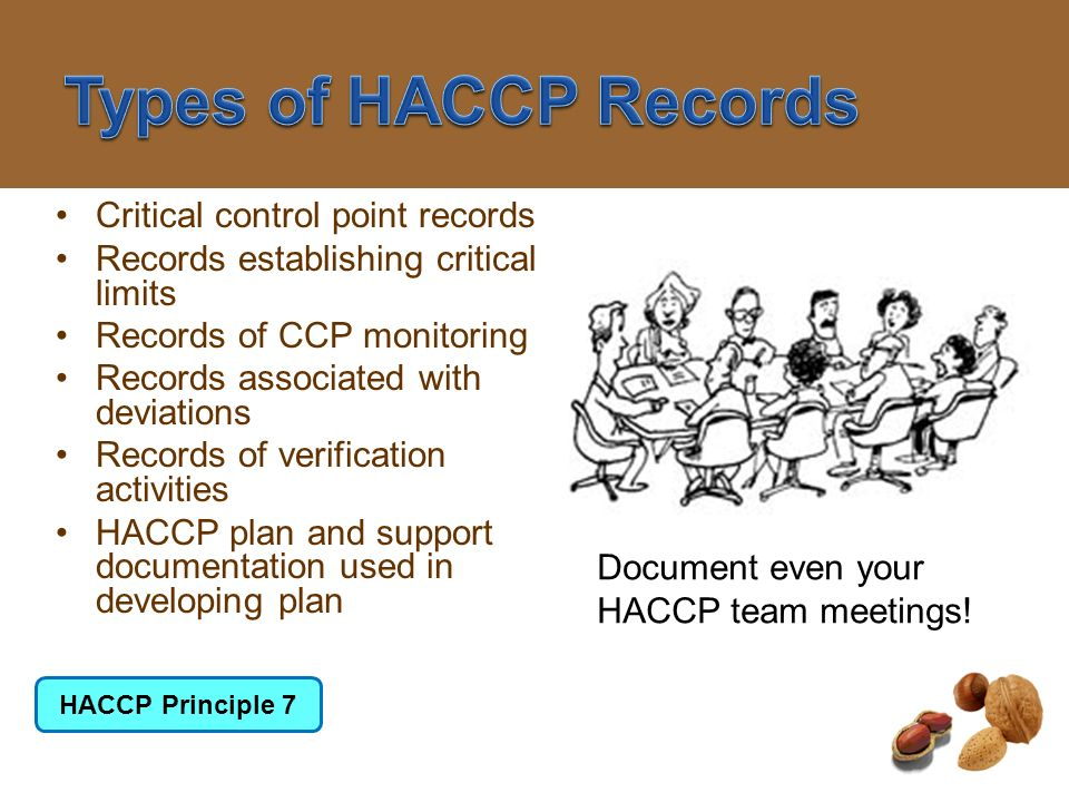 Types of HACCP Records Critical control point records