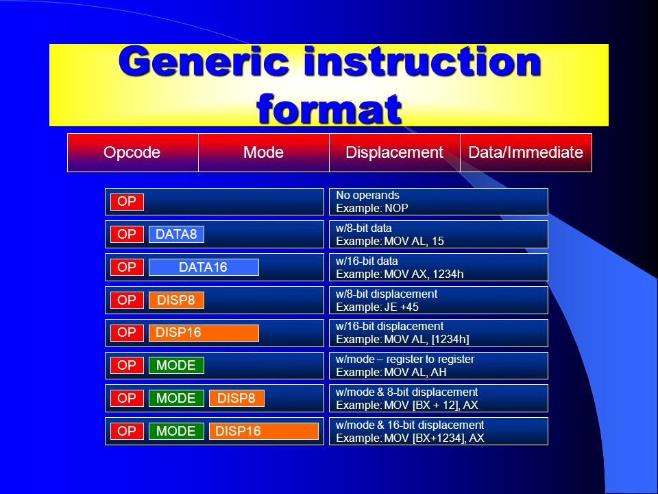Generic instruction format