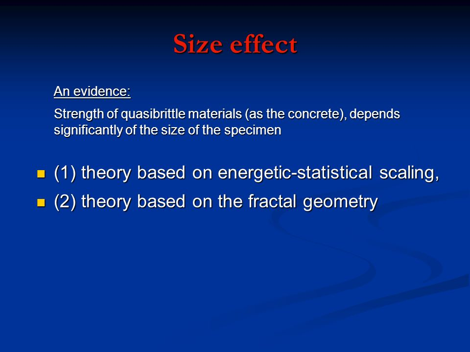 Size effect (1) theory based on energetic-statistical scaling,