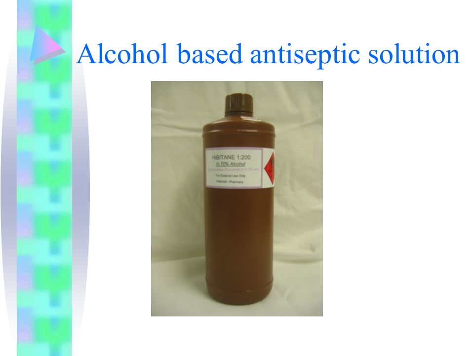 Alcohol based antiseptic solution