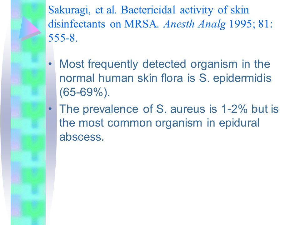Sakuragi, et al. Bactericidal activity of skin disinfectants on MRSA