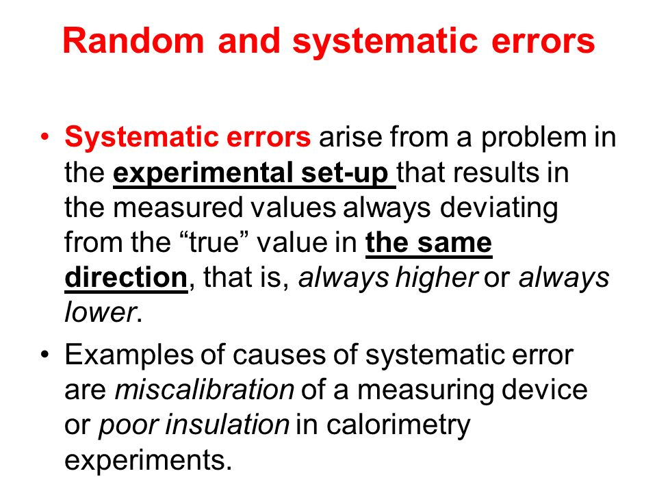 Errors And Uncertainties In Chemistry Internal Assessment Ppt