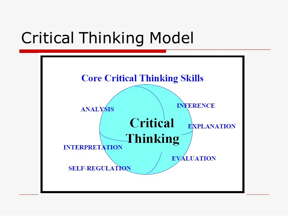 Critical Thinking Model