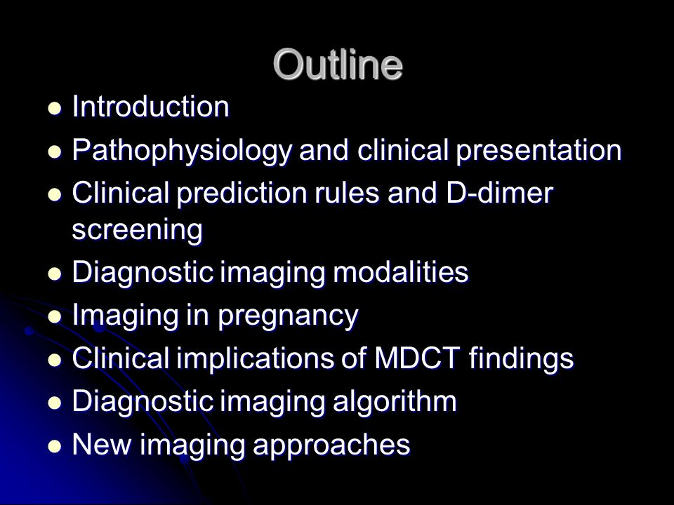 Outline Introduction Pathophysiology and clinical presentation