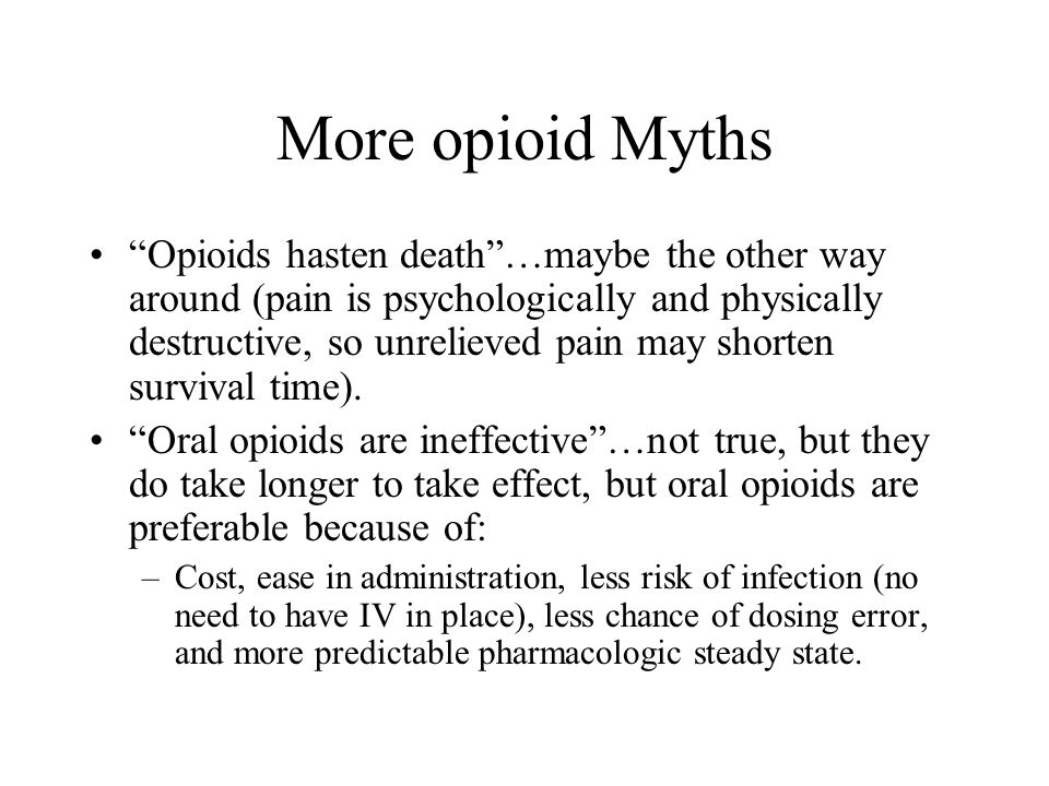 More opioid Myths