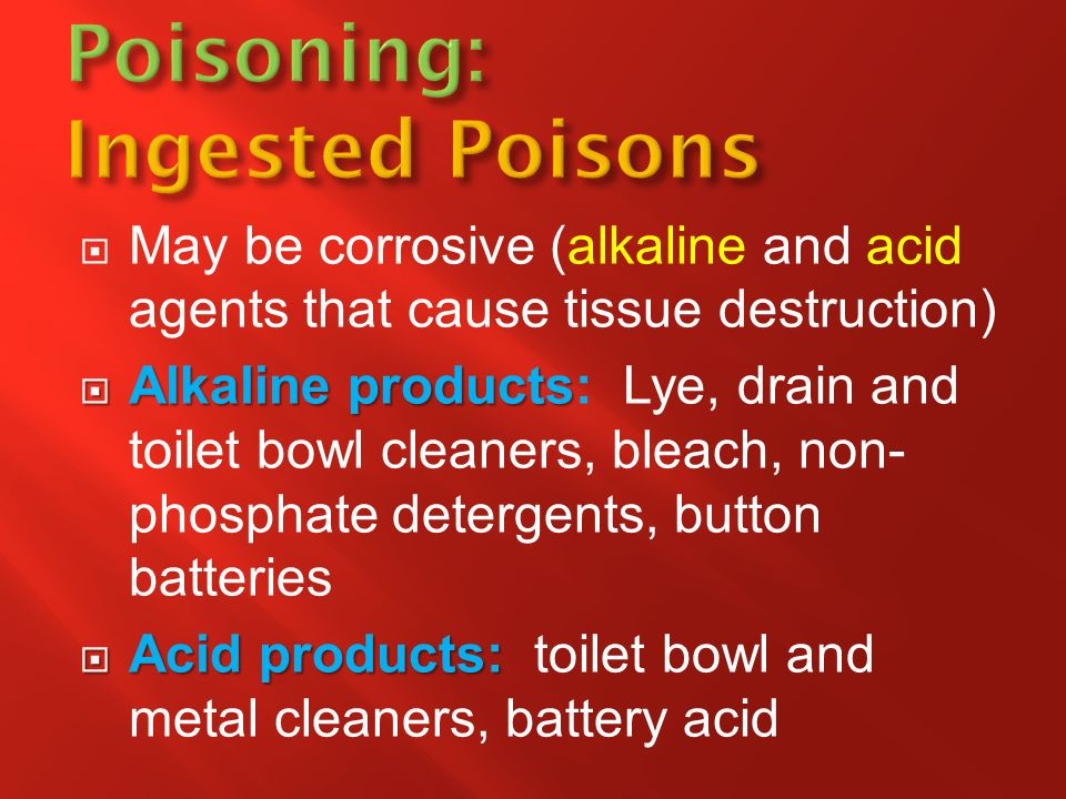 Poisoning: Ingested Poisons