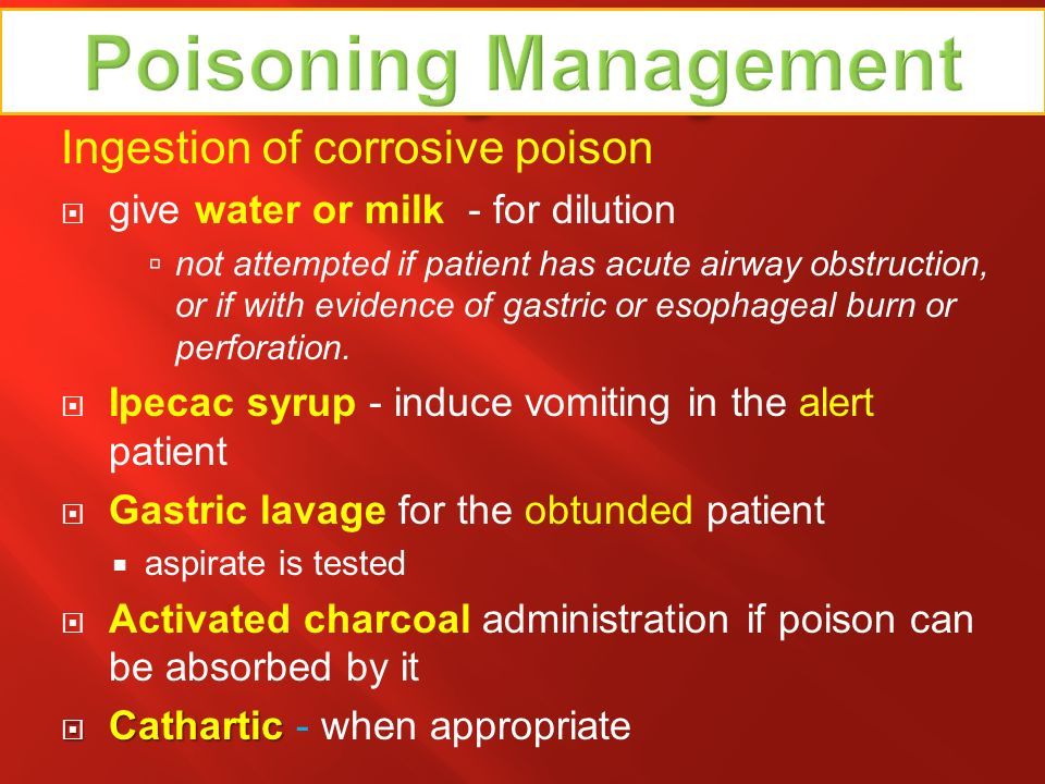 Poisoning Management Poisoning Management