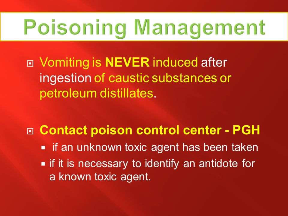 Ingested Poison Warnings!!!